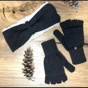 BEARPAW Headband and Pop Top Hand Wear Set